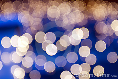 Golden christmas lights