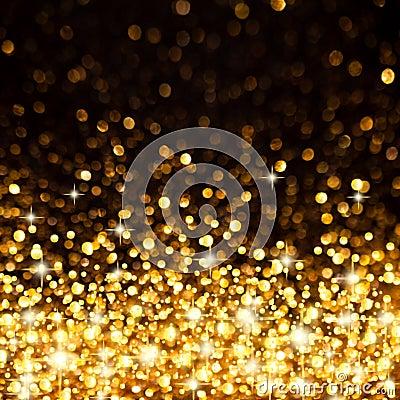Gold Lights Backgrounds Golden christmas lights