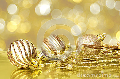 Golden Christmas scene