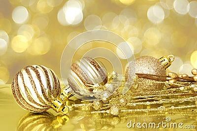 Golden Christmas scene