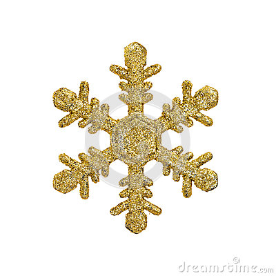 Free Golden Christmas Snow Flake Royalty Free Stock Image - 62834436