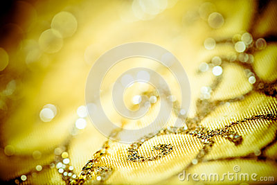 Golden Christmas tablecloth