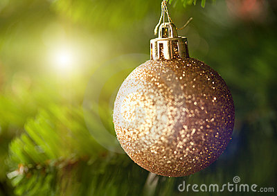 Golden Christmas tree ornament
