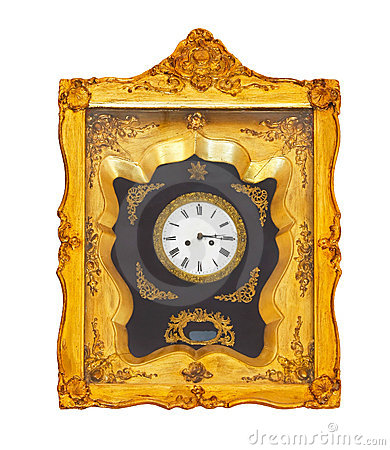 Free Golden Clock Royalty Free Stock Photo - 11258675