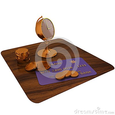 Golden Clock and Credit Card