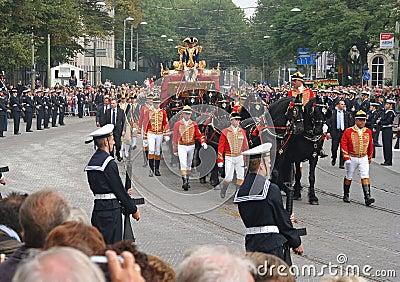 Golden Coach, Holland Editorial Image