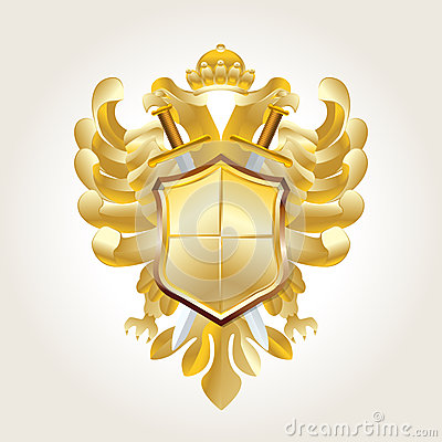 Golden coat of arms