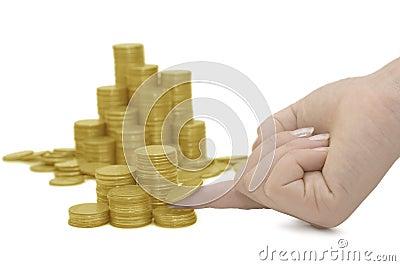 Golden coins ackground