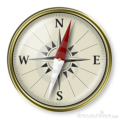 Golden compass, strategic plannig concept