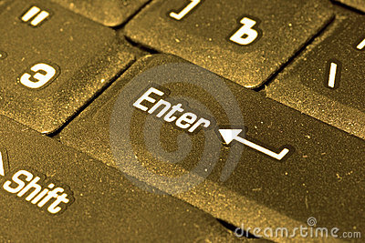 Golden computer keyboard