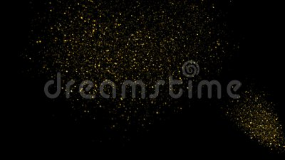 Golden Confetti Party Popper Explosions on Black Backgrounds. 3d animation, 4K stock video
