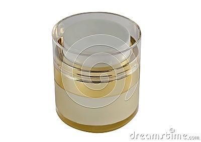 Golden cream box