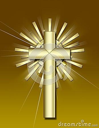 Free Golden Cross Stock Photo - 1758350