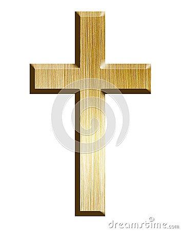 Free Golden Cross Royalty Free Stock Photos - 24268098