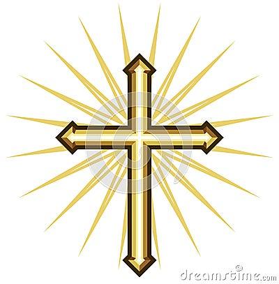 Free Golden Cross Stock Photography - 37911032