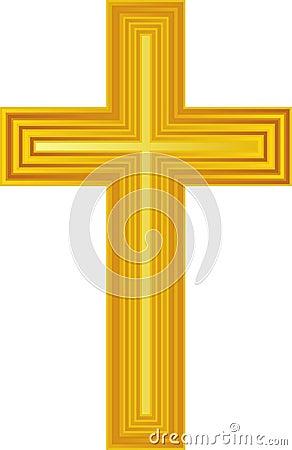 Free Golden Cross/eps Royalty Free Stock Photo - 5575725