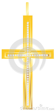 Golden cross pendent