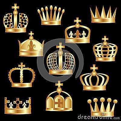 Golden crown.