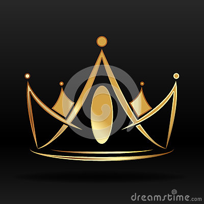Free Golden Crown For Logo And Design Stock Photos - 49176403