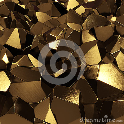 Golden crystals