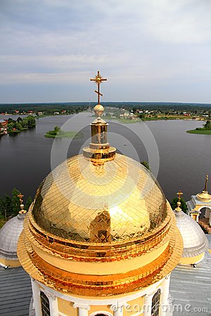 Golden Cupola of Church