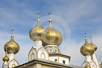Golden cupolas with crosses