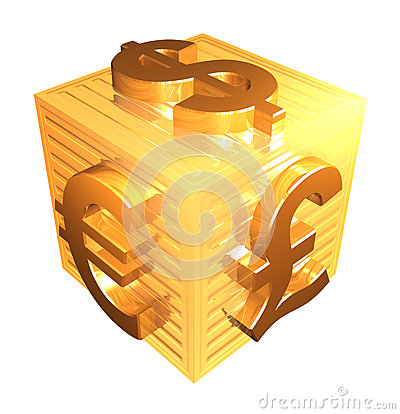 Free Golden Currency Symbols - 3d Render Royalty Free Stock Photos - 72487698