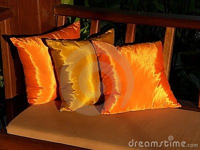 Golden cushions