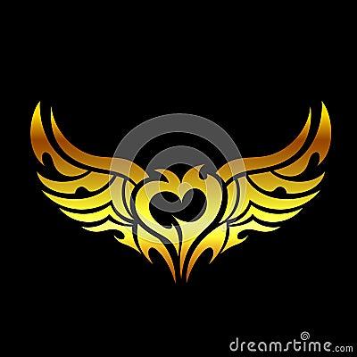 Golden devilish tattoo