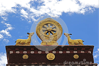 Golden Dharma Wheel