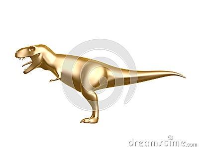 Golden dinosaur