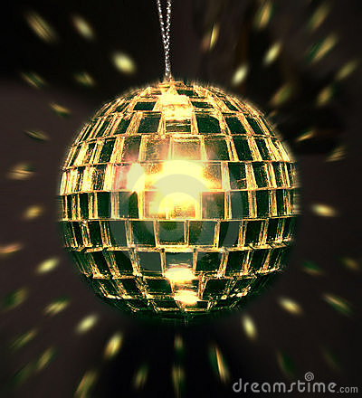 Free Golden Disco Ball Royalty Free Stock Images - 581019