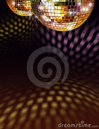 Free Golden Disco Mirror Ball Royalty Free Stock Photography - 14243277