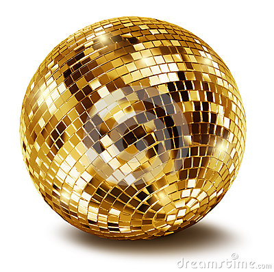 Free Golden Disco Mirror Ball Stock Photos - 25159863