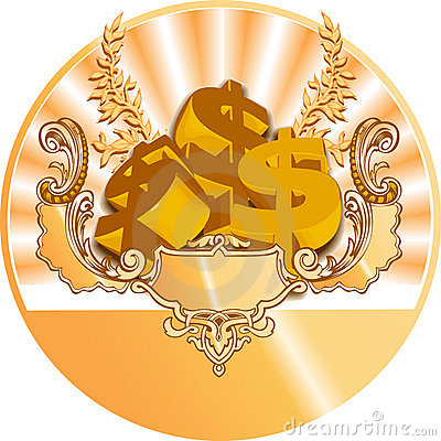 Golden Dollar Icon