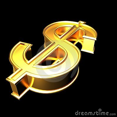 Golden dollar sign