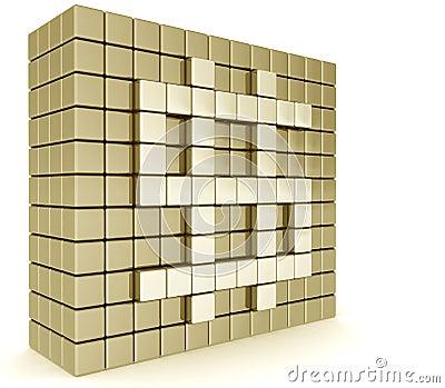 Golden dollar sign wall