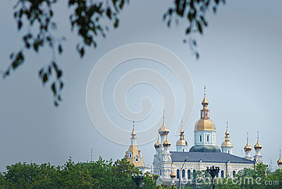 Golden Dome Church Stock Images - Image: 25343964