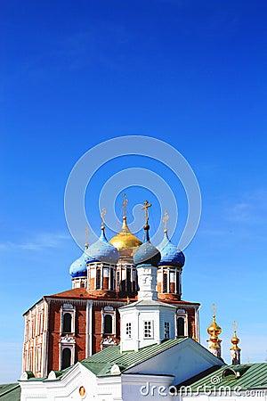 Free Golden Domes Of The Ryazan Kremlin Stock Photos - 13888903