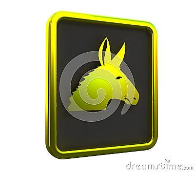 Golden donkey pendant