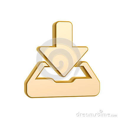 Golden download symbol