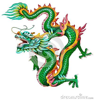 Free Golden Dragon Isolated On White Stock Photos - 21442843