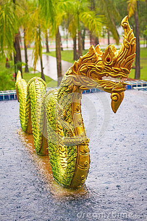 Golden Dragon monument in Thailand