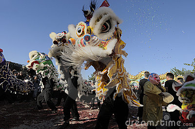 Golden Dragon Parade Editorial Stock Photo