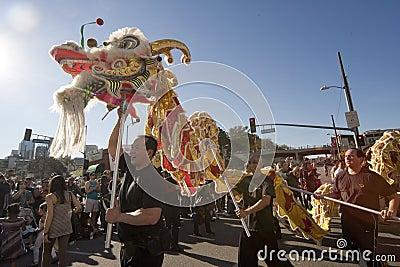 Golden Dragon Parade Dragon Dancers Editorial Stock Photo