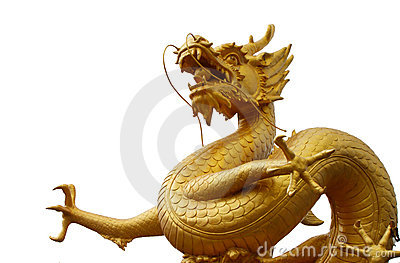 Golden dragon statue, Phuket, Thailand