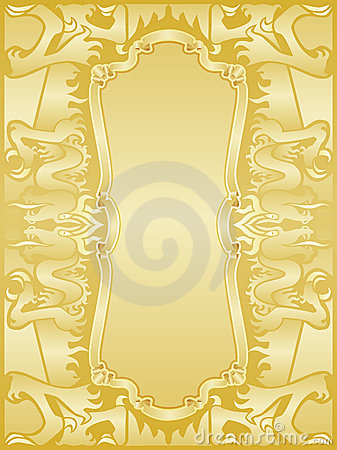 Golden dragons frame set