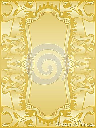 Golden dragons frame set