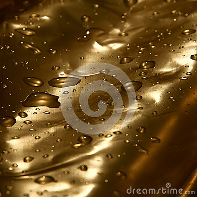 Golden drops of water