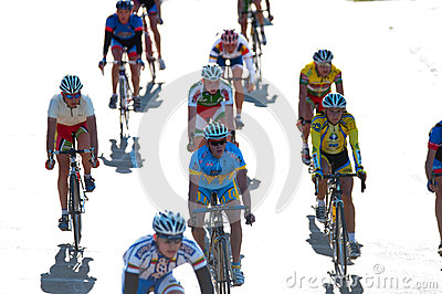 Golden Dunes 2012 bicycle race, Klaipeda Editorial Stock Photo